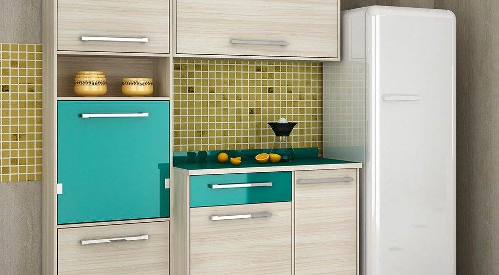 Cozinha Completa Maia 6 PT 1 GV Jacarta e Esmeralda