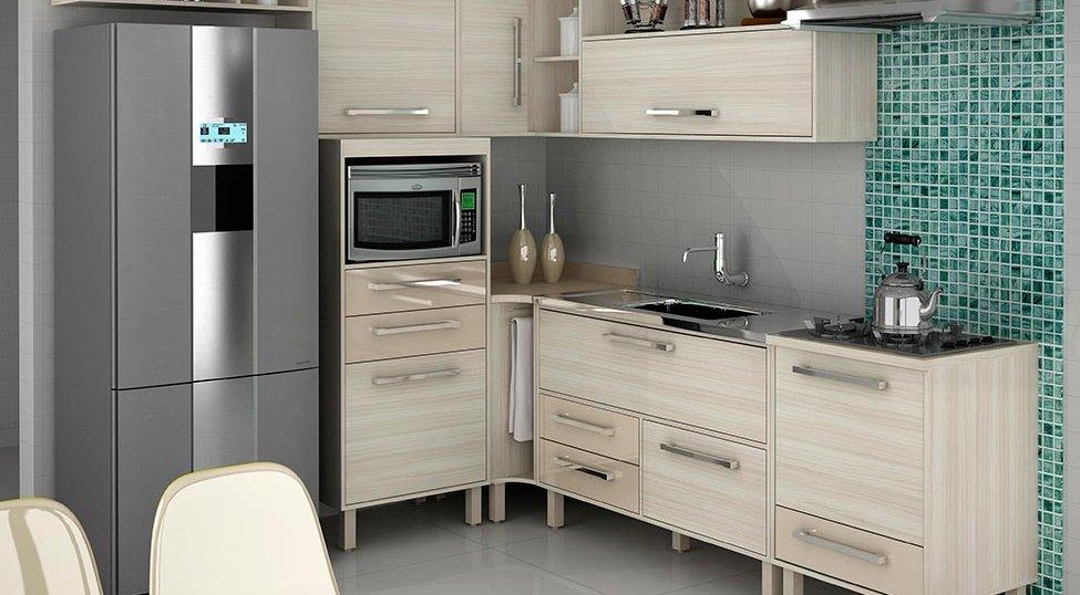 Cozinha Completa Maia 7 PT 5 GV Jacarta e Fume