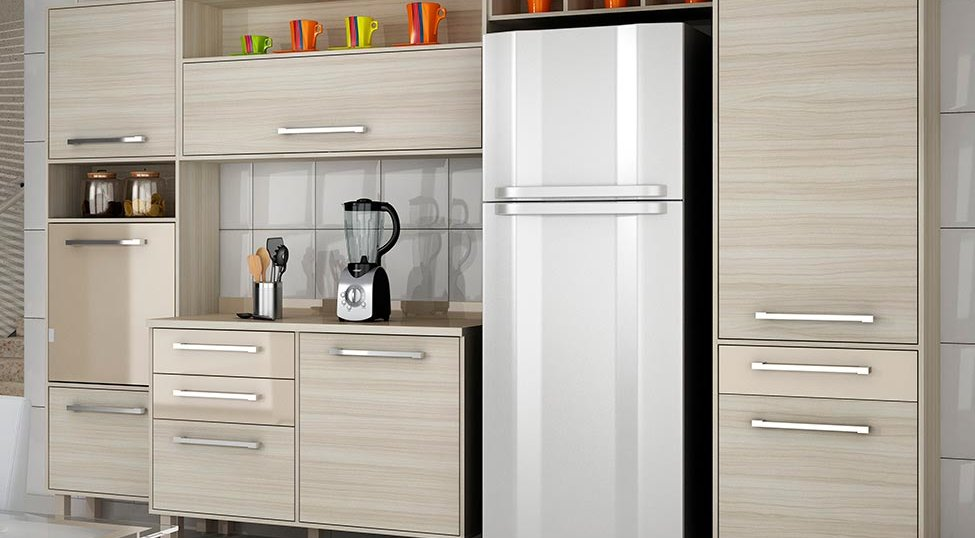 Cozinha Completa Maia 8 PT 3 GV Jacarta e Fume