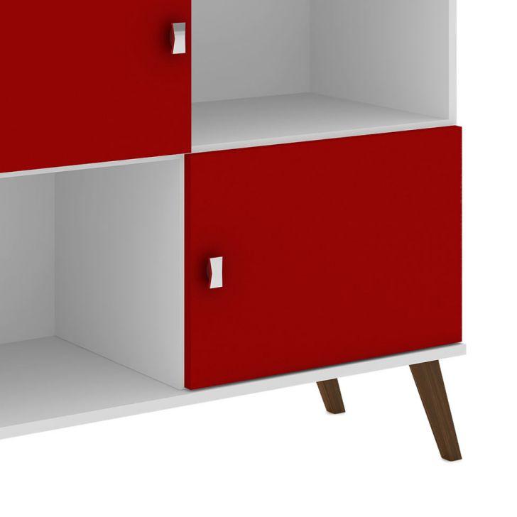 Foto 4 - Buffet Hita 2 PT Branco e Vermelho