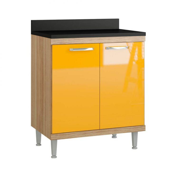 Balcão 70cm Argila Fosco Texturizado Lacca Ad Amarelo Gema