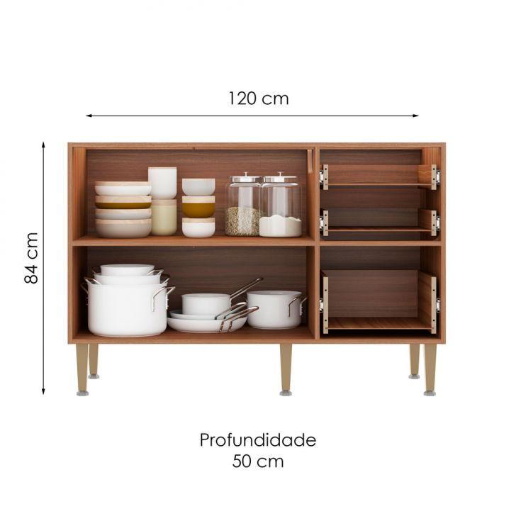 Foto 2 - Balcão de Cozinha Néftis I 2 PT 3 GV Nogueira