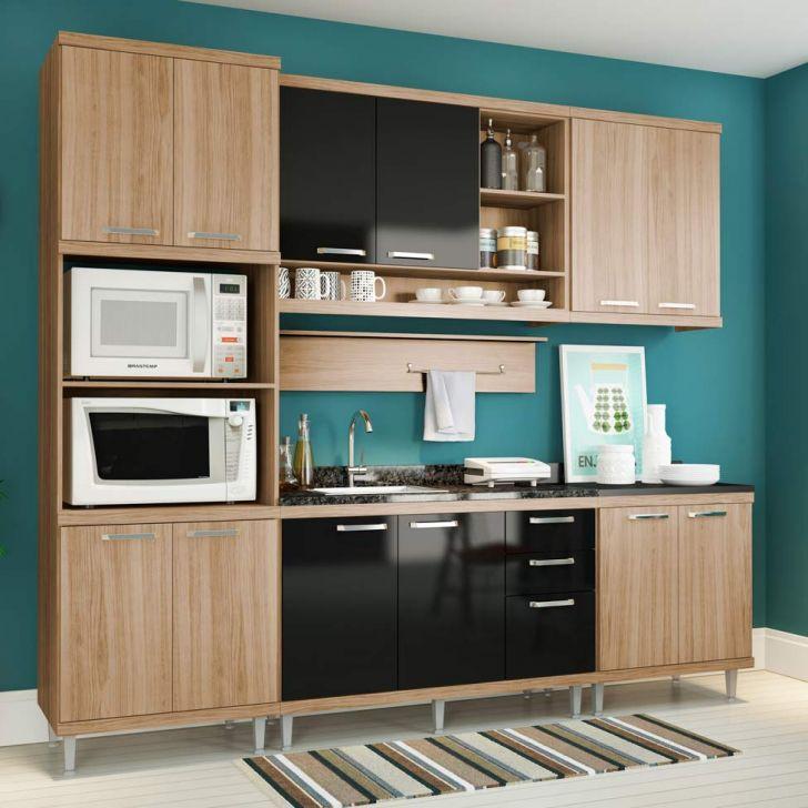 Foto 4 - Balcão de Cozinha Taylor 2 PT 3 GV Argila e Preto