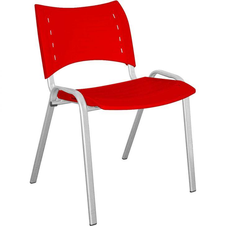 Cadeira de Escritório Stillus Fixa Vermelho