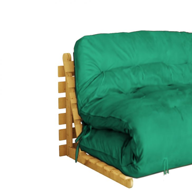 Sof cama casal futon marina suede verde - Sofa cama verde ...