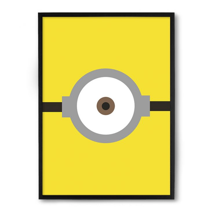 Quadro Nerderia Minion Olho