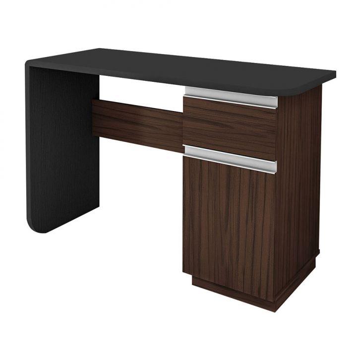 Escrivaninha Office Click Castanho e Preto