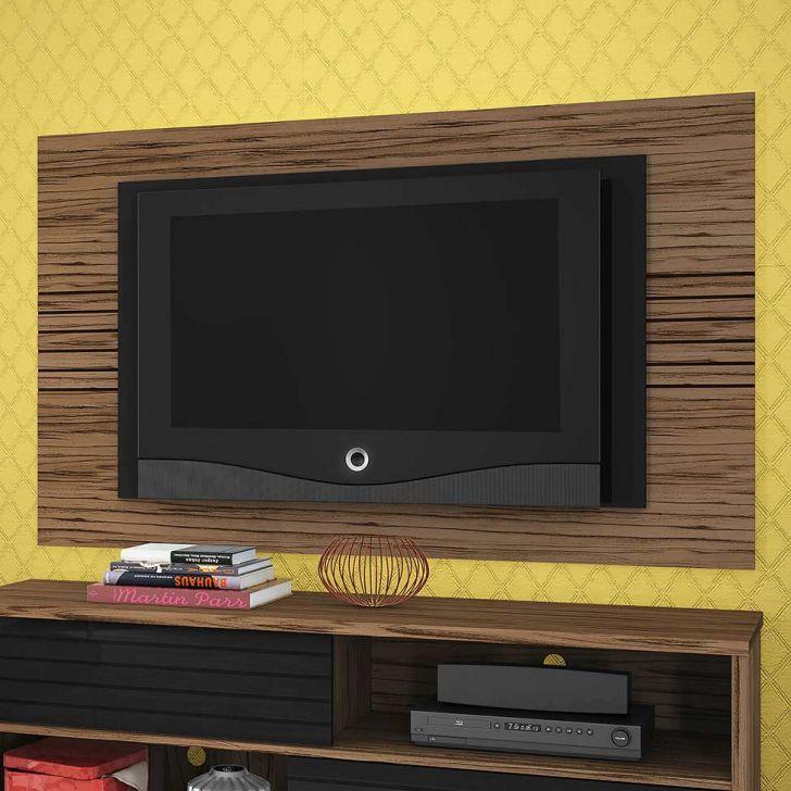 Painel para TV Home Friz Amêndoa e Preto 157 cm