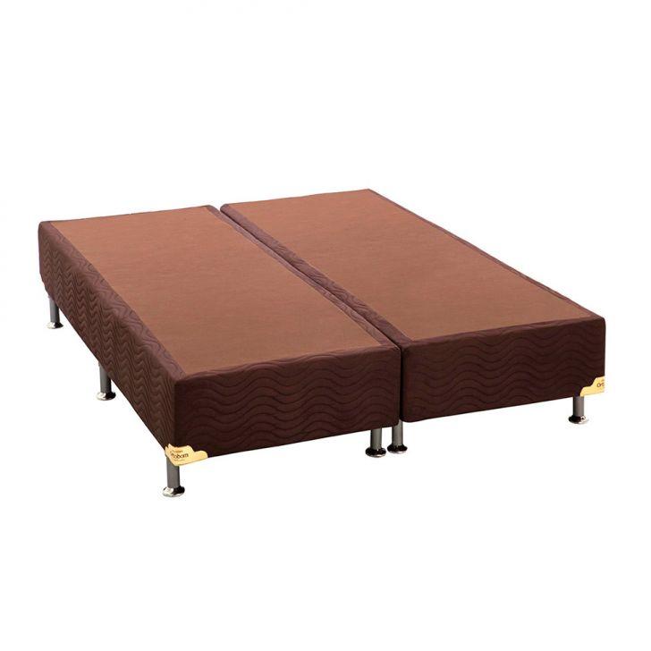 Base Box Queen Camurça I Marrom