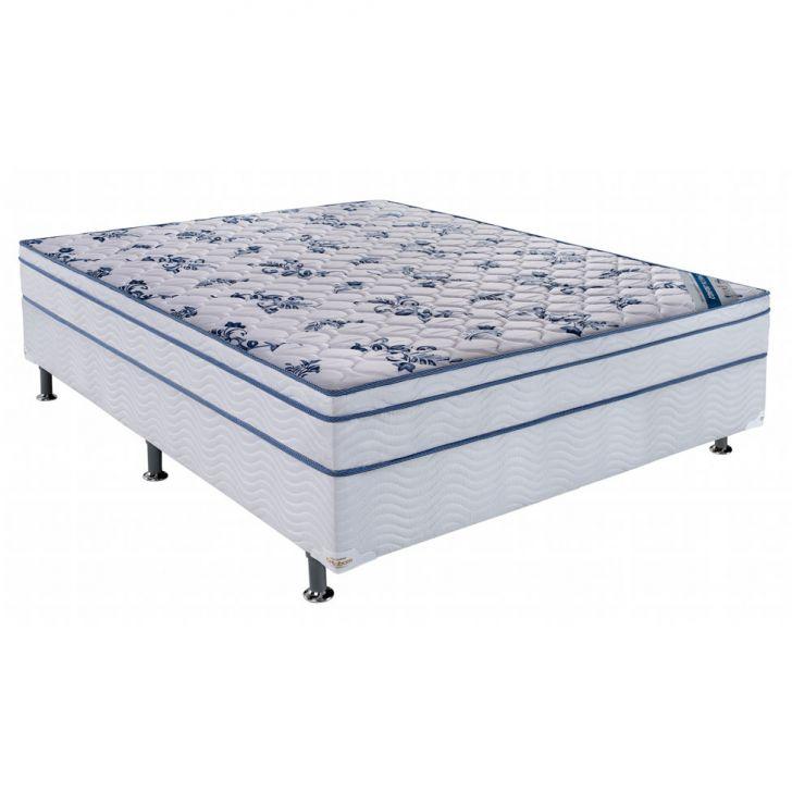 Conjunto Cama Box Physical com Colchão Casal Molas Nanolastic Confort...