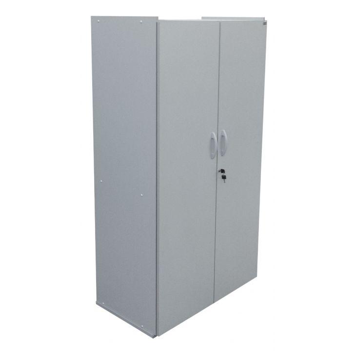 Aparador De Barba Zoom Trimmer ~ Armário de Escritório com 2 Portas Cinza e Preto 90 x 165 cm