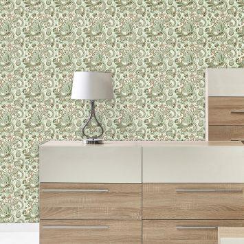 Papel de Parede Autocolante Rolo 0,60 x 3M - Floral 665 DESCONTO DE R$: 35,00 (35,00% OFF) - OFERTA MOBLY