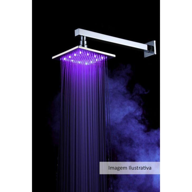 Ducha com led loomix p 002 quadrada for Led para ducha
