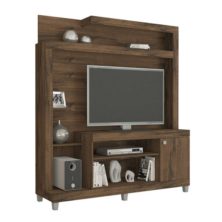 Estante para Home Theater e TV 40 Polegadas Julia Café 160 cm