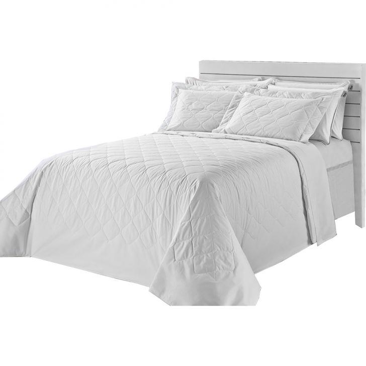 Colcha Matelasse-Royal Comfort-Solteiro-02 Pçs-Branco