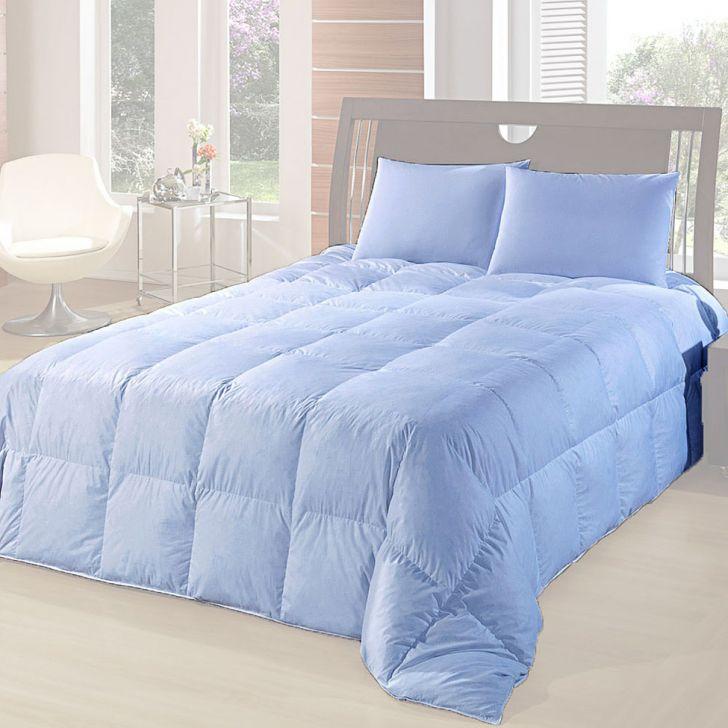 Edredom 50% Pluma 50% Fibra-Queen-240X260-Azul