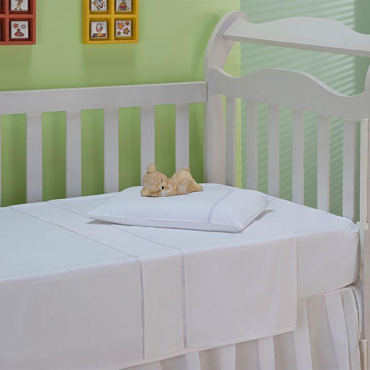 Jogo de Cama Berço Classic Baby Branco