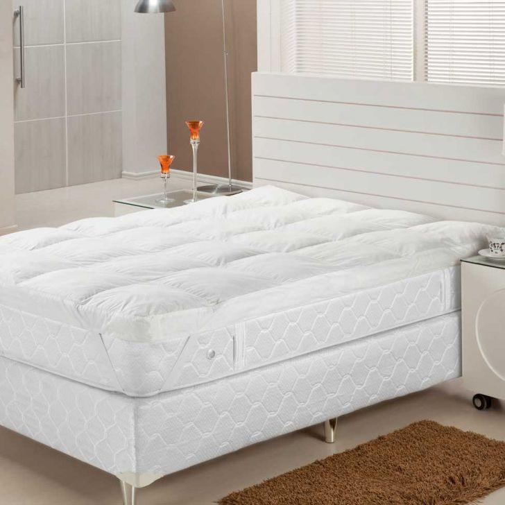 Pillow Top  Fibra Siliconizada Em Flocos  Queen  158X198   Plumasul