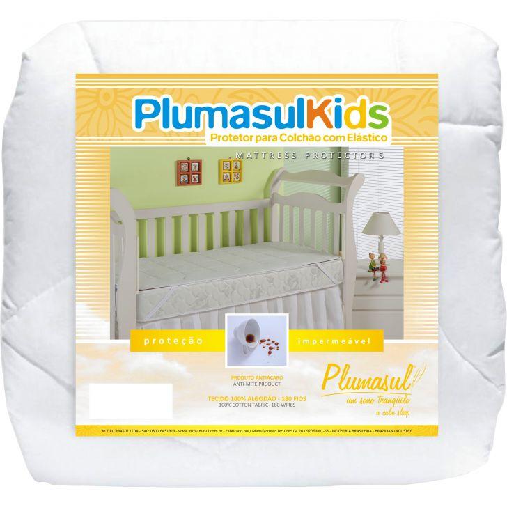 Protetor para Colchão Impermeável com Elástico Baby-70X130-Matelasse-180 Fios