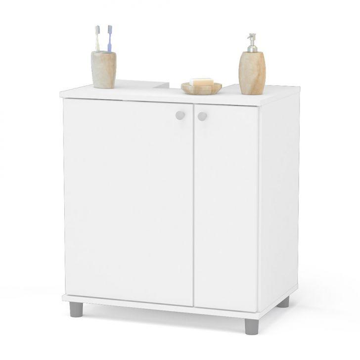 Foto 1 - Gabinete Asti para Banheiro com Portas Branco