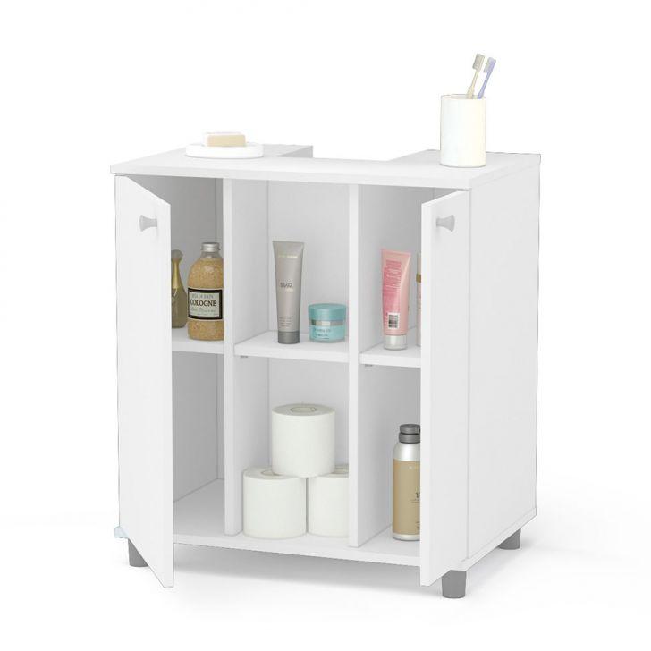 Foto 3 - Gabinete Asti para Banheiro com Portas Branco