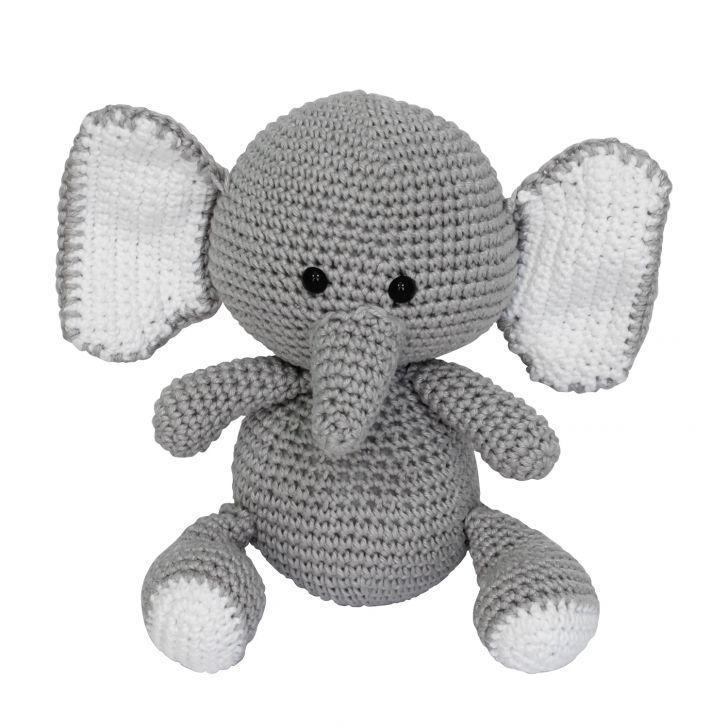 Beto Elefante em Amigurumi | Elefante de crochê, Bichinhos de ... | 728x728