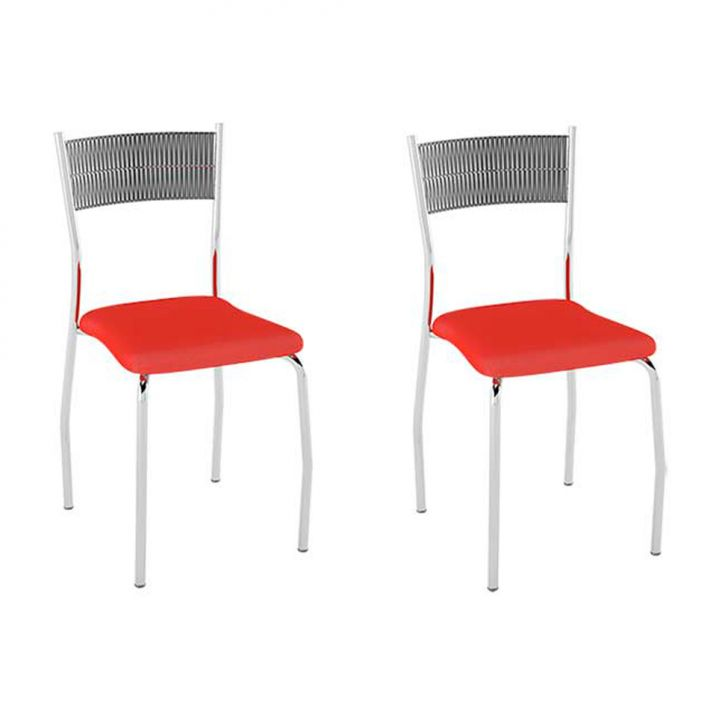 Conjunto com 2 Cadeiras Bruno I Vermelho