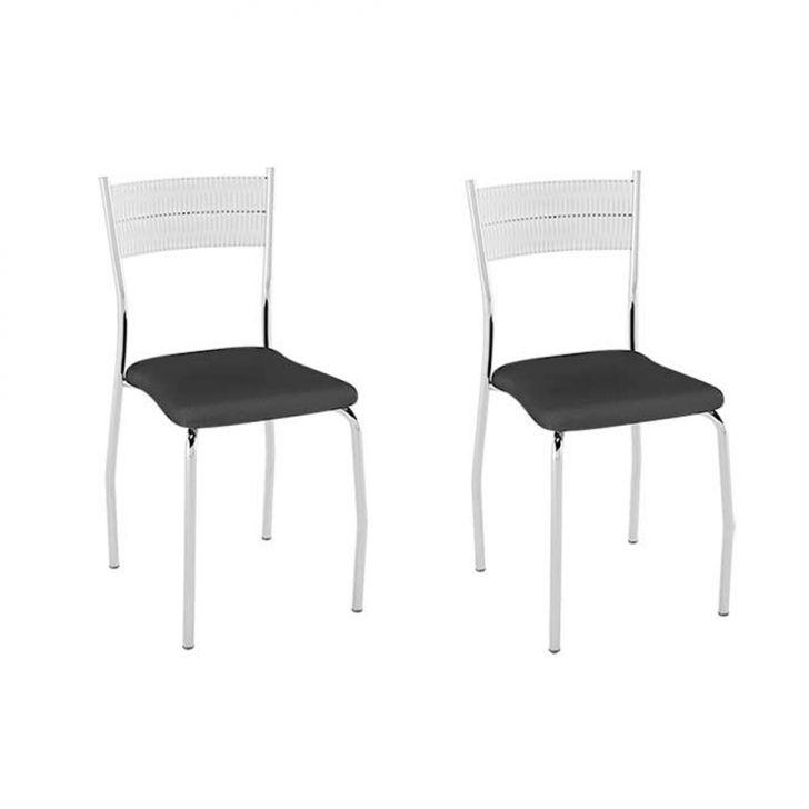 Conjunto com 2 Cadeiras Bruno III Preto
