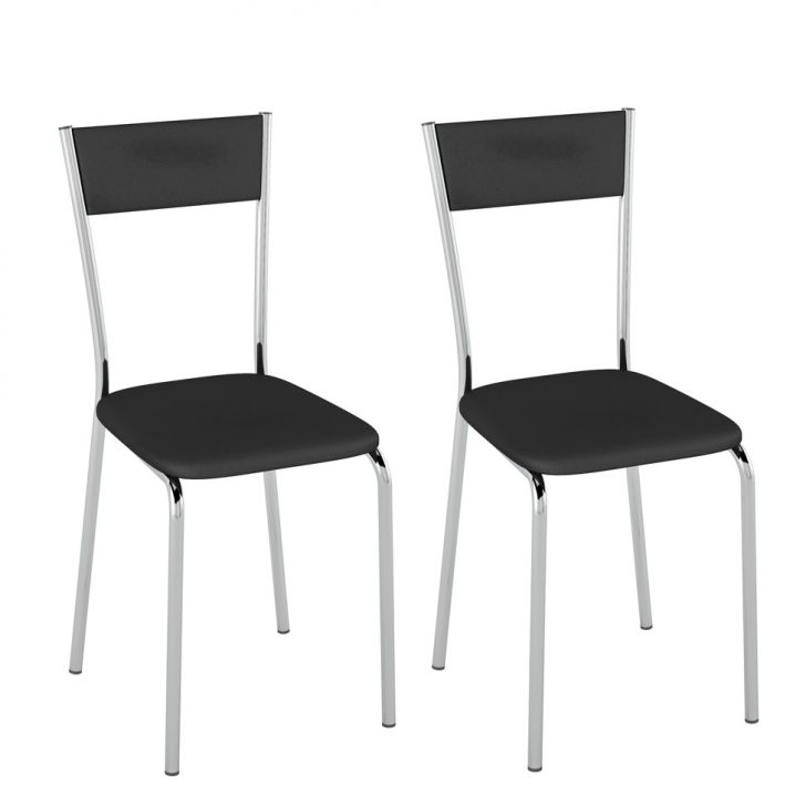Conjunto com 2 Cadeiras Ducasse Preto d133b745c1f