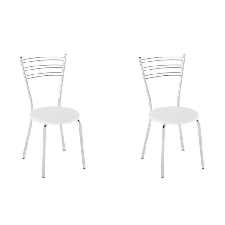 Conjunto com 2 Cadeiras Furlan Branco
