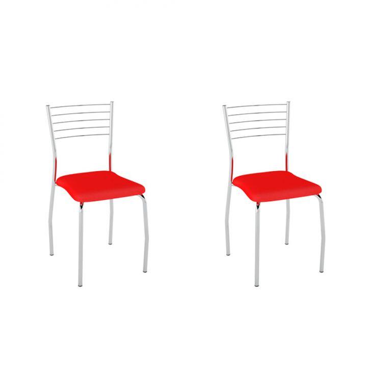 Conjunto com 2 Cadeiras Lini Vermelho