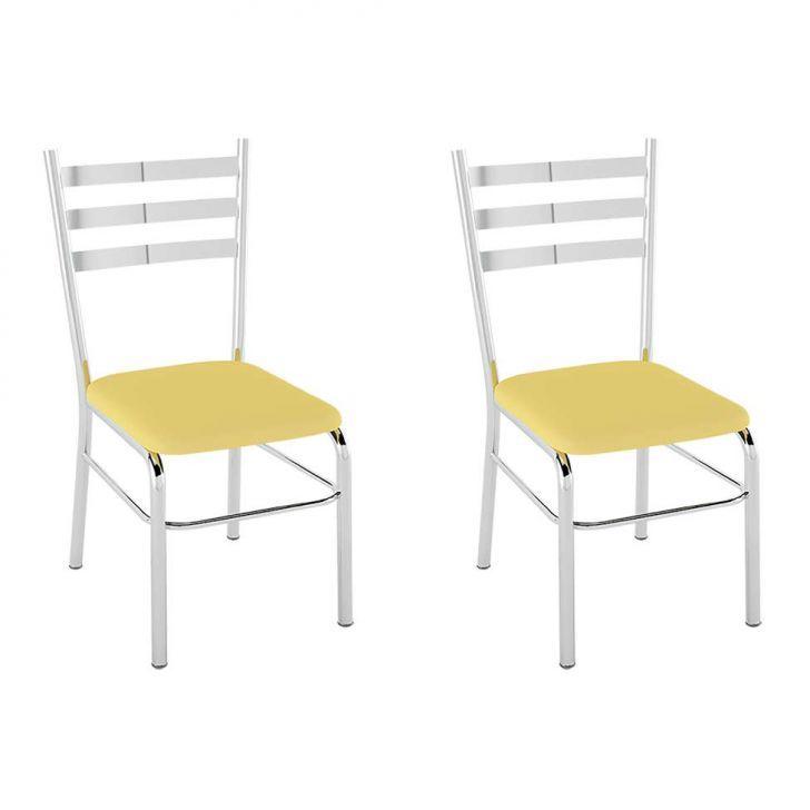 Conjunto com 2 Cadeiras Santana Amarelo 55b8ee04a53
