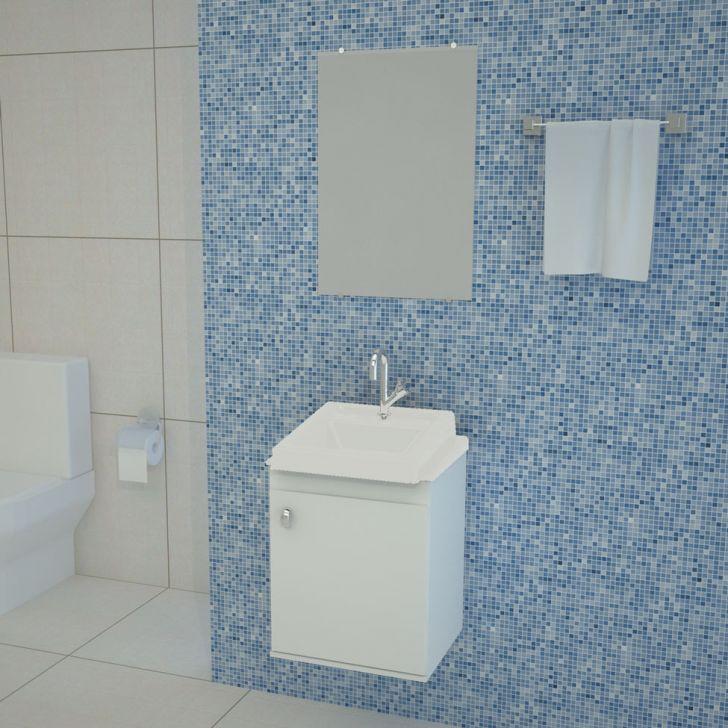 Conjunto de Banheiro Roma 50x40 Branco