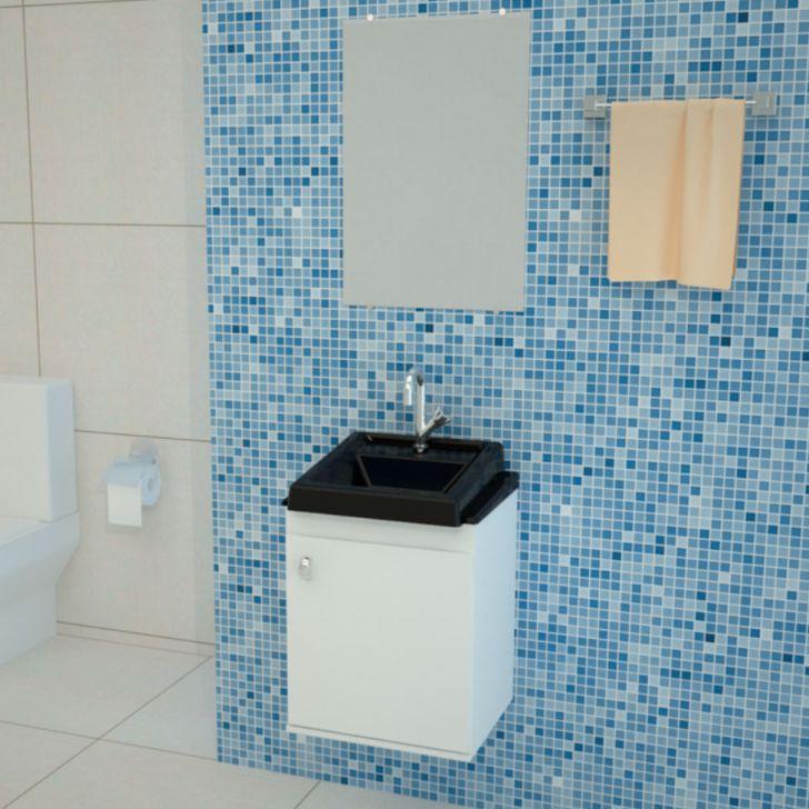 Conjunto de Banheiro Roma 50x40 Preto