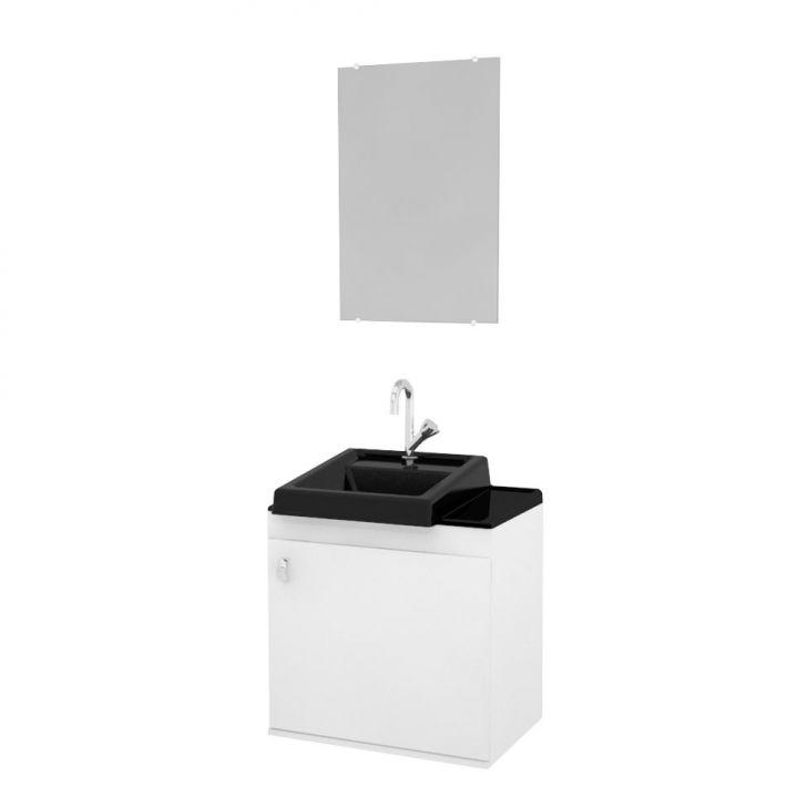 Conjunto de Banheiro Roma 50x50 Preto
