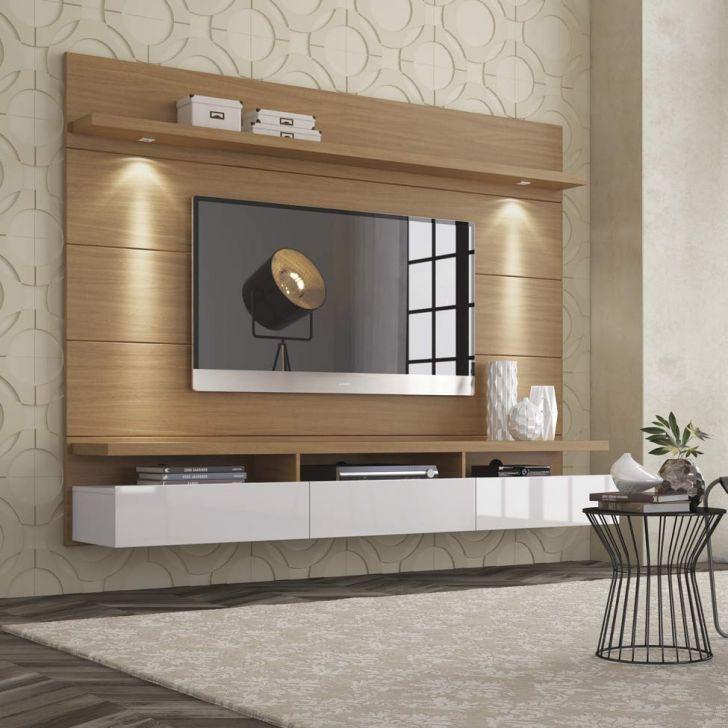 Painel Para Tv 1 8 Horizon Com Led Natural E Off White