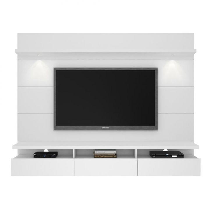 painel para tv 60 polegadas horizon i branco gloss 218 cm. Black Bedroom Furniture Sets. Home Design Ideas