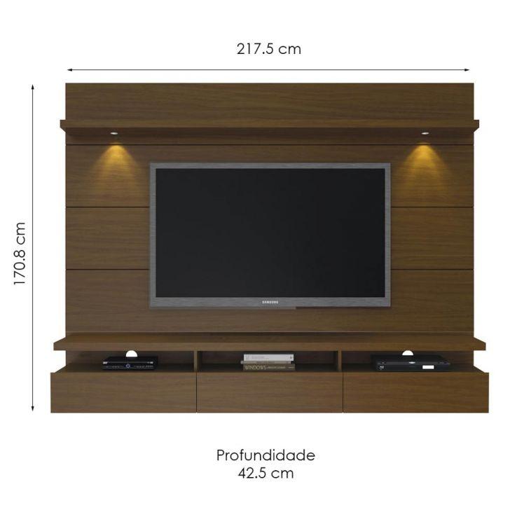 painel para tv 60 polegadas horizon i castanho 218 cm. Black Bedroom Furniture Sets. Home Design Ideas