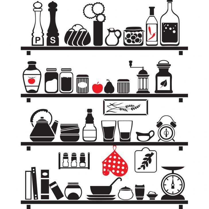 Armario Auxiliar Salon ~ Adesivo de Parede Cozinha Retr u00f4