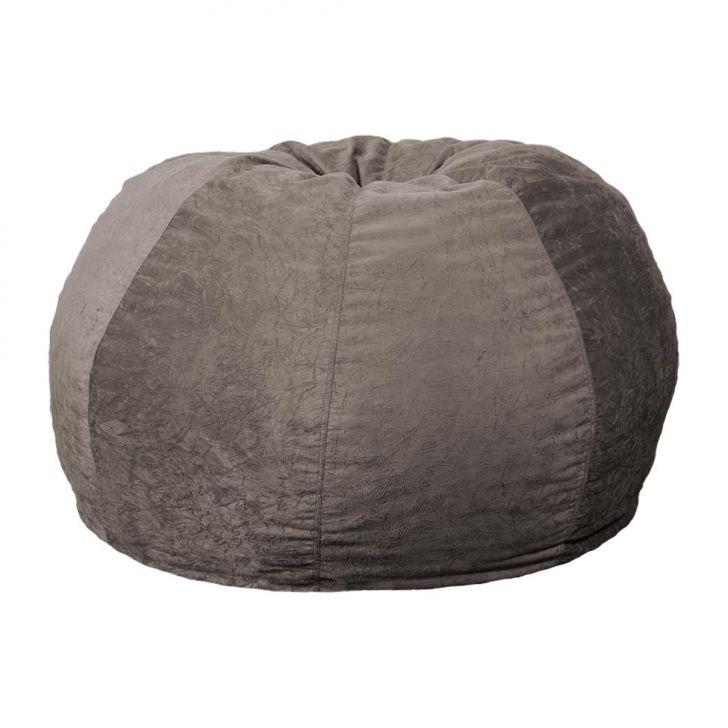 Puff Confort Maçã Suede Cinza 100 cm