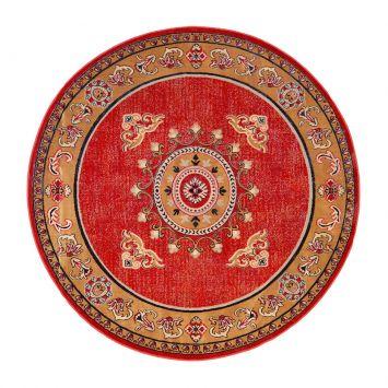 Tapete Redondo Veludo Marbella Çagdas IV Vermelho 200x200 cm DESCONTO DE R$: 214,00 (35,67% OFF) - OFERTA MOBLY