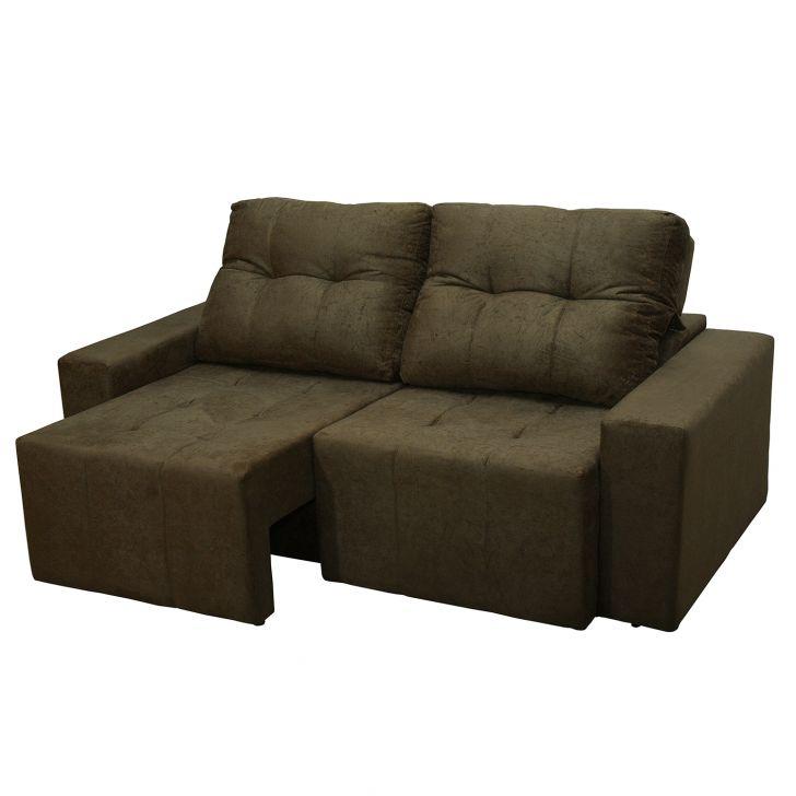Sof 3 lugares sedan retr til e reclin vel suede amassado for Sofa 4 lugares retratil e reclinavel caravaggio suede amassado marrom