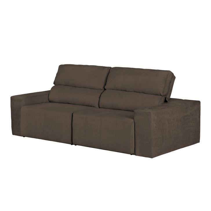 Sof 4 lugares caravaggio retr til e reclin vel suede for Sofa 4 lugares retratil e reclinavel caravaggio suede amassado marrom