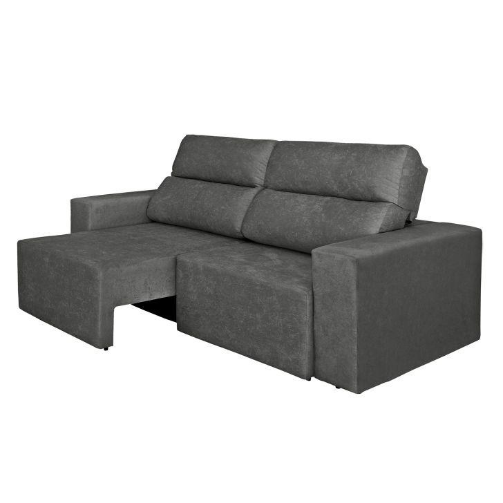 Sof 4 lugares cavan retr til e reclin vel suede amassado for Sofa 7 lugares retratil e reclinavel firenze
