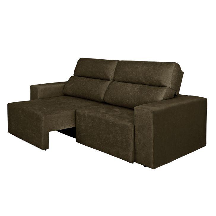 Sof 4 lugares cavan retr til e reclin vel suede amassado for Sofa 4 lugares retratil e reclinavel caravaggio suede amassado marrom