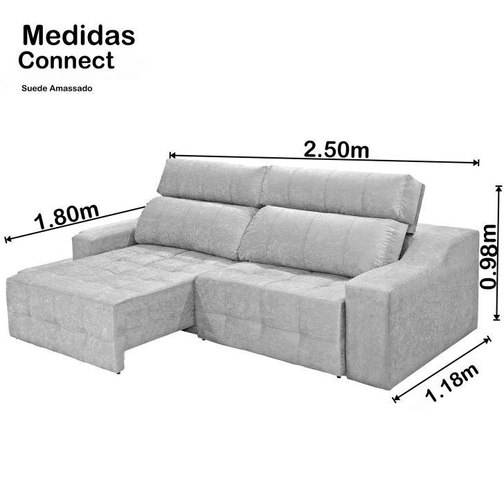 Pleasing Sofa 4 Lugares Connect Retratil E Reclinavel Suede Amassado Cinza Pdpeps Interior Chair Design Pdpepsorg