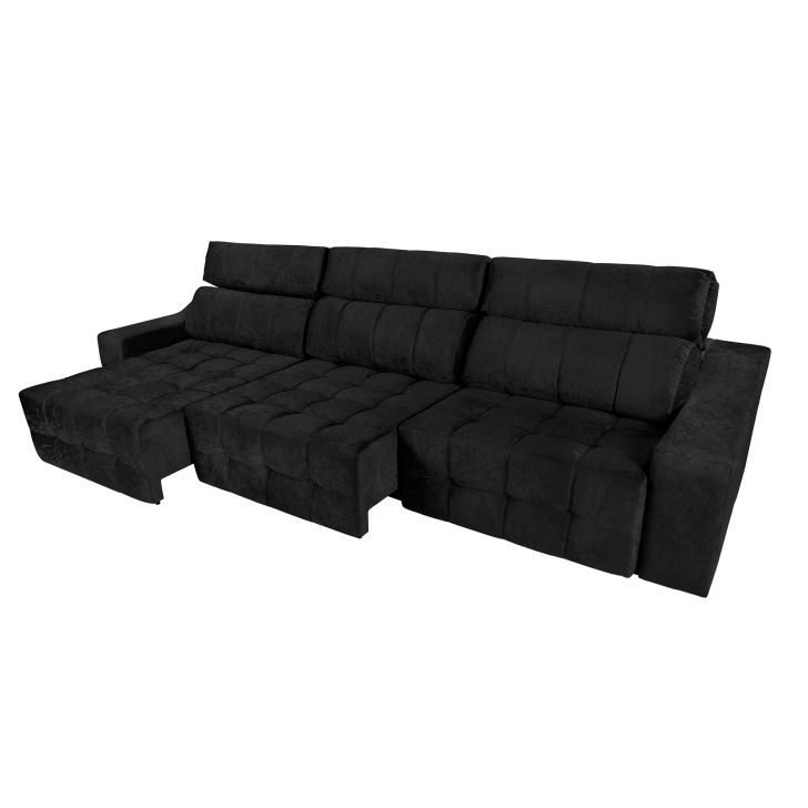 sof 6 lugares connect retr til e reclin vel suede On sofa 4 lugares connect retratil e reclinavel suede amassado marrom rifletti