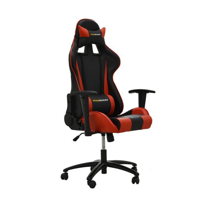 Cadeira de Escritório Presidente Pro Gamer Preto e Vermelho