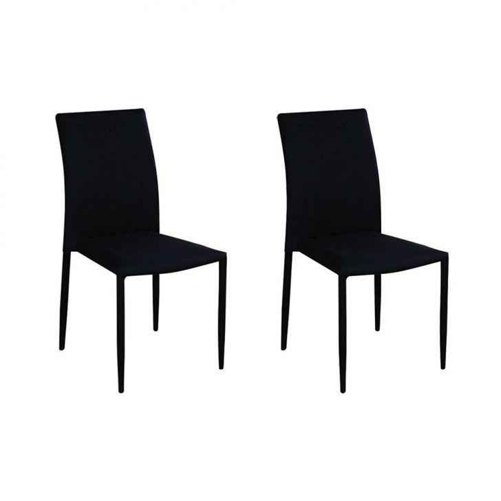 Conjunto de 2 Cadeiras Amanda Preto