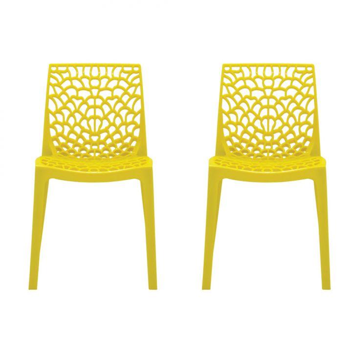 Conjunto de 2 Cadeiras Gruvyer Amarela